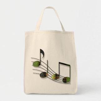 Dubstep Notes Light Tote Bag