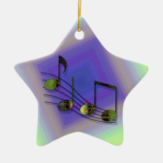 Dubstep observa el ornamento adorno navideño de cerámica en forma de estrella