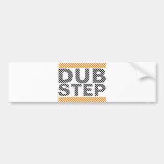 Dubstep Orange Bumper Sticker