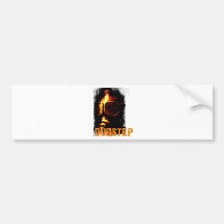 Dubstep Orange Gas Mask Bumper Sticker