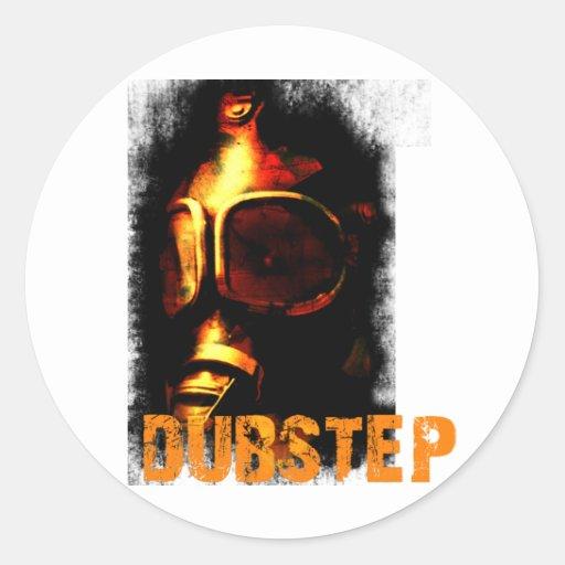 Dubstep Orange Gas Mask Classic Round Sticker