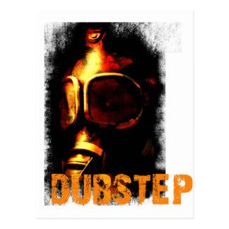 Dubstep Orange Gas Mask Postcard