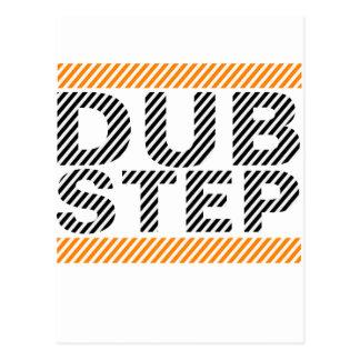 Dubstep Orange Postcard