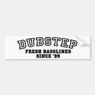 Dubstep - original pegatina para auto