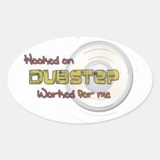 Dubstep Oval Sticker