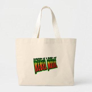 Dubstep Rebel Music Jumbo Tote Bag