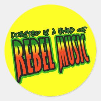 Dubstep Rebel Music Classic Round Sticker