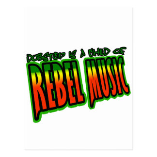 Dubstep Rebel Music Postcard