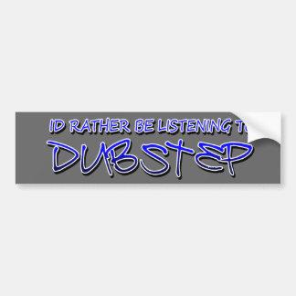 Dubstep remezcla el dubstep de la música-transfere etiqueta de parachoque