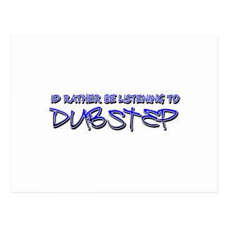 Dubstep remezcla el dubstep de la tarjetas postales