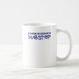 Dubstep remezcla el dubstep de la taza básica blanca