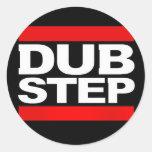 dubstep remix-benga-dubstep radio-free dubstep-dub classic round sticker