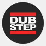 dubstep remix-dubstep radio-free dubstep-kode9 classic round sticker