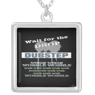 Dubstep Silver Plated Necklace