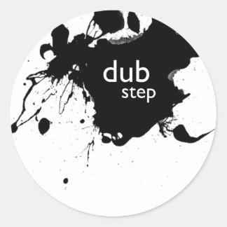 Dubstep Spatter Classic Round Sticker