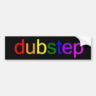 Dubstep Spectrum Black Bumper Sticker Car Bumper Sticker
