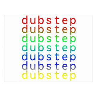 Dubstep Text Color Spectrum Postcard