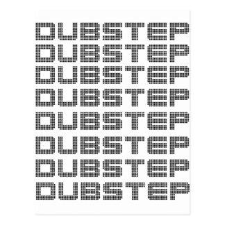 Dubstep Text Postcard