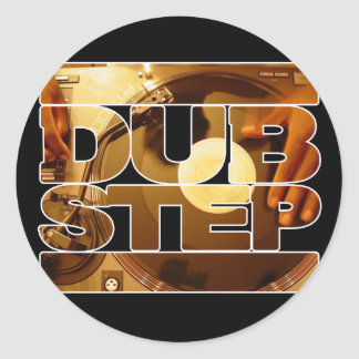 DUBSTEP vinyl dubplates music dub step download Classic Round Sticker