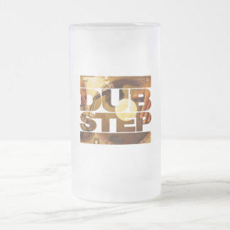 DUBSTEP vinyl dubplates music dub step download Frosted Glass Beer Mug