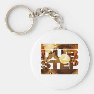 DUBSTEP vinyl dubplates music dub step download Basic Round Button Keychain