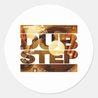 DUBSTEP vinyl dubplates music dub step download Classic Round Sticker