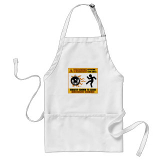 DUBSTEP Warning Extreme Bass Adult Apron
