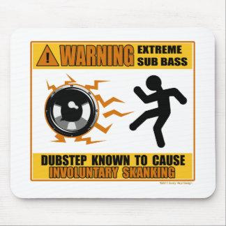 DUBSTEP Warning Extreme Bass Mousepads