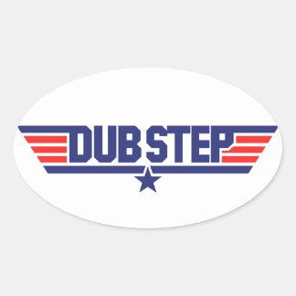 Dubstep (Wings & Star) Oval Sticker