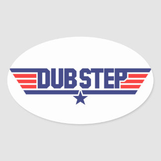 Dubstep (Wings & Star) Oval Stickers