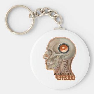 Dubstep woofer brain keychain