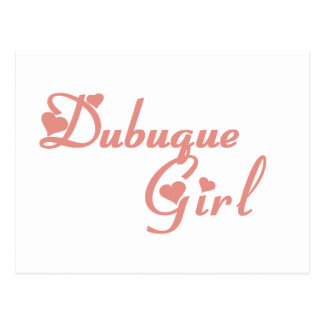 Dubuque Girl tee shirts Post Cards