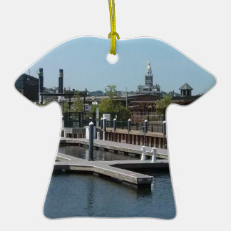Dubuque ice harbour Double-Sided T-Shirt ceramic christmas ornament