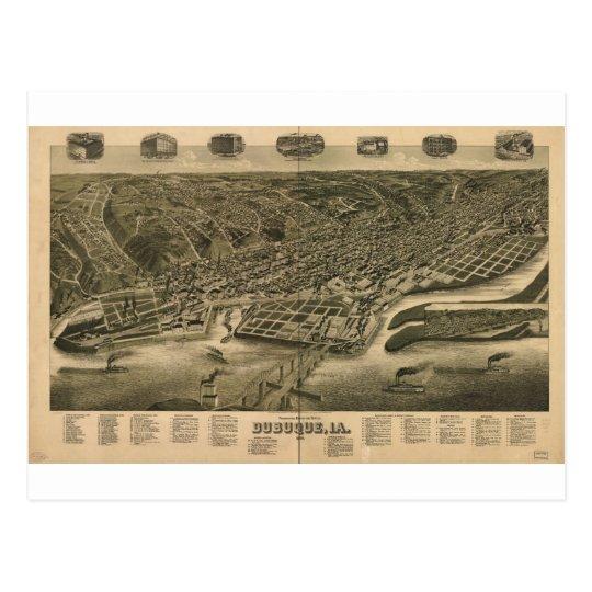 Dubuque, Iowa en 1889 Postales