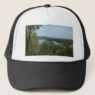 Dubuque Iowa from the Mississippi River Trucker Hat