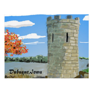 Dubuque, Iowa- Julien Dubuque Monument Postcard