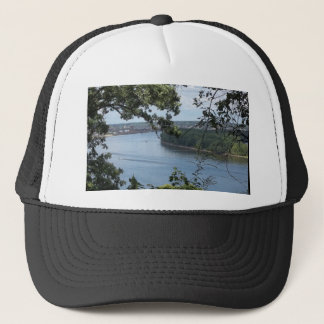 Dubuque Iowa on the Mississippi River Trucker Hat