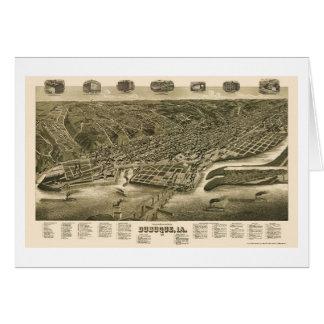 Dubuque, Iowa Panoramic Map - 1889 Card
