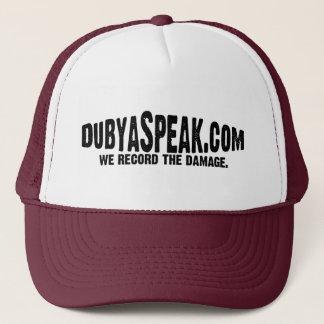 DubyaSpeak Logo Trucker Trucker Hat