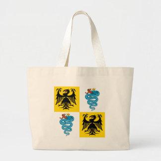 Ducado de la bandera de Milano (1450) Bolsa Tela Grande