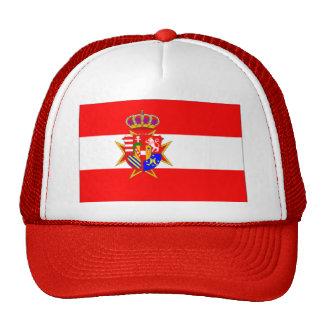 Ducado magnífico de la bandera blanca roja de gorro de camionero