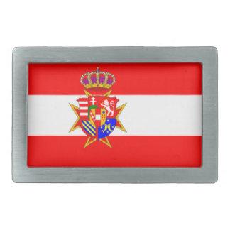 Ducado magnífico de la bandera blanca roja de hebilla cinturon rectangular