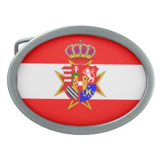 Ducado magnífico de la bandera blanca roja de hebilla de cinturon oval