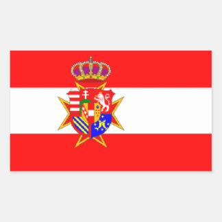 Ducado magnífico de la bandera blanca roja de rectangular pegatinas