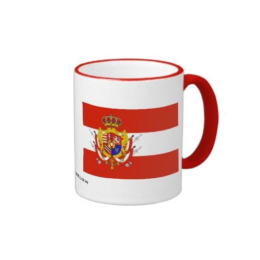 Ducado magnífico de la bandera blanca roja de taza a dos colores