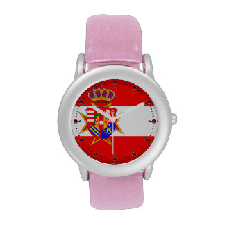 Ducado magnífico de la bandera blanca roja de Tosc Reloj