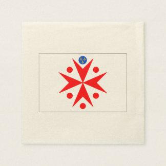 Ducado magnífico de la bandera del blanco de servilleta desechable