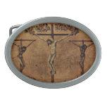 Duccio di Buoninsegna Art Oval Belt Buckles