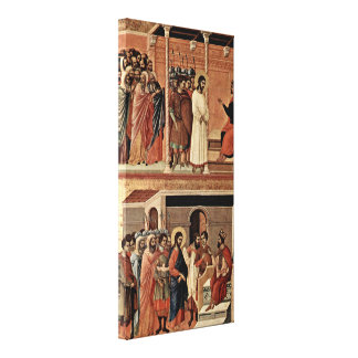Duccio di Buoninsegna - Christ and Mary Magdalene Stretched Canvas Print