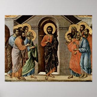 Duccio di Buoninsegna - Christ appears to Apostles Poster